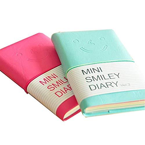 Klein Notizblock Liniertes Mini Smiley Notizbuch Tragbar Journal Tagebuch Memo Notepad Schulhefte Candy FarbeS 2 tück