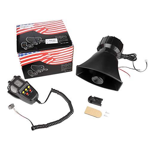 Bocina de alarma, Bocina de Alarma de Sirena de Alarma de Seguridad al Aire 115-130db Super Loud Car 5 Tone Warning Alarm Siren Bocina Altavoz con micrófono