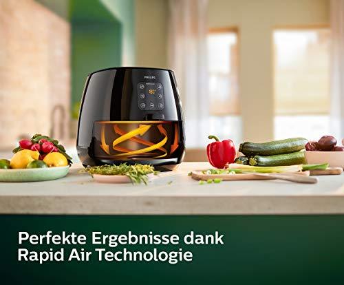 Philips HD9260/90 Airfryer XL – Das Original (Heißluftfritteuse, 1900 W, für 3-4 Personen, 1200 g Kapazität, digitales Display) schwarz - 3