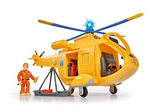 Simba 109251002–Sam Il Pompiere Elicottero Wallaby II con Personaggio