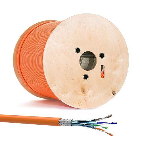 500m CAT 7 Verlegekabel Simplex Netzwerkkabel CAT.7 LAN Halogenfrei Installationskabel S/FTP CAT7 Kabel Gigabit Netzwerk Verkabelung Datenkabel 10Gbit 1000MHz LSZH Kupfer Ethernet (500m, Cat 7)