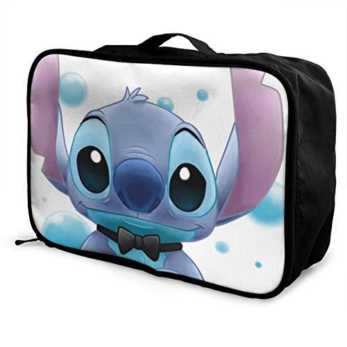Stitch Travel Lage Bolsa de viaje para mujeres y hombres, niños, impermeable, gran capacidad de bapa ligera, bolsas portátiles