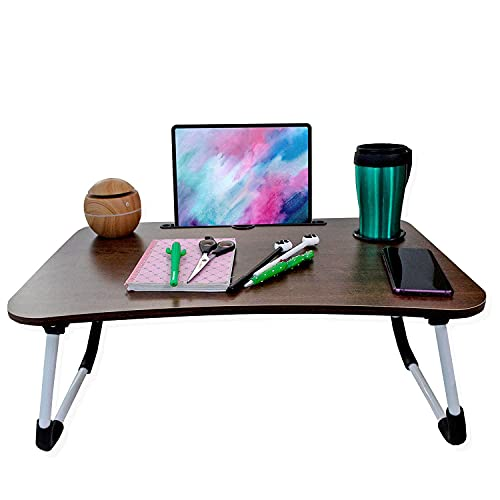 ANDROMEDA INC Mesa para Laptop Soporte para Tablet, Mesa para Cama, Desayunador de Madera Sofa Cama Plegable