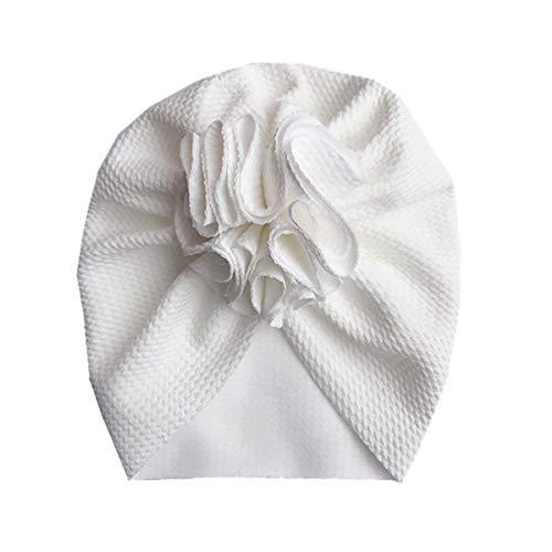 Gorros de algodón elástico Todder turbante sólido suave grande floral bebé gorro de fotografía accesorio para niñas