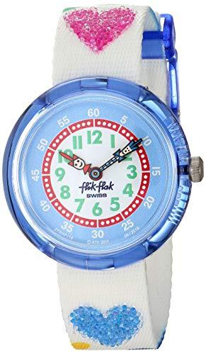 Flik Flak Reloj Analógico para Niñas de Cuarzo con Correa en Tela ZFBNP116