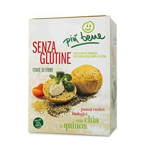 PIU BENE Pieczywo z nasionami chia i quinoa bezglutenowe 125g - BIO