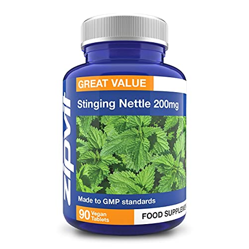 Stinging Nettle 200mg, 90 Vegetarian Tablets. Potent Antioxidant.