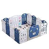HDGAB Planes De Pieles Plegables para Bebés, 14 Paneles Portátiles Portátiles Play Play Playards para Bebés Y Niños Pequeños Al Aire Libre Al Aire Libre, Play Patio De Seguridad para Niños Pequeños