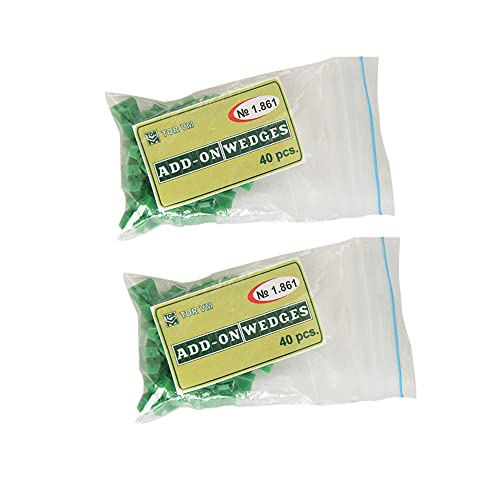 80pcs Dental Silicone Add On Wedges TOR VM No 1.861 Delta Ring Tine Green