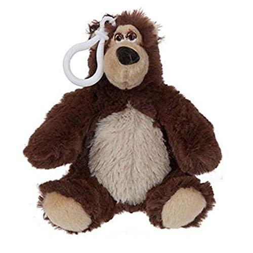 10cm Mascha und der Bär Clip On Soft Toy - Beutel-Klipp / Schlüsselanhänger