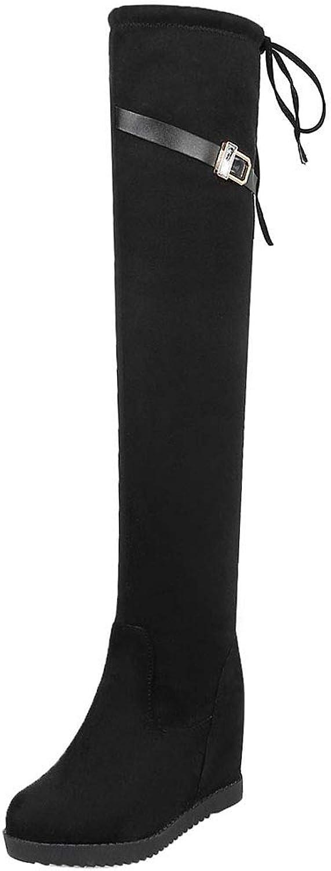 CularAcci Women Fashion Mid Heel Over The Knee Boots