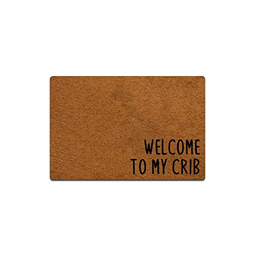 Welcome to My Crib Funny Doormat Custom Home Living Decor Housewares Rugs and Mats State Indoor Gift...
