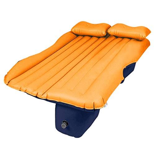 Pkfinrd Luftmatratzen Schlafausrüstung Auto Matratze Klapp Camping Bett Reise Kofferraum Isomatte Auto Aufblasbares Bett Tragbar (Color : Orange, Size : 135 * 85cm)