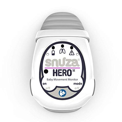 Snuza Hero (SE) Premium Baby Movement Monitor - Wearable Infant Abdominal Movement Monitor Alarm - Cordless, Long Battery Life