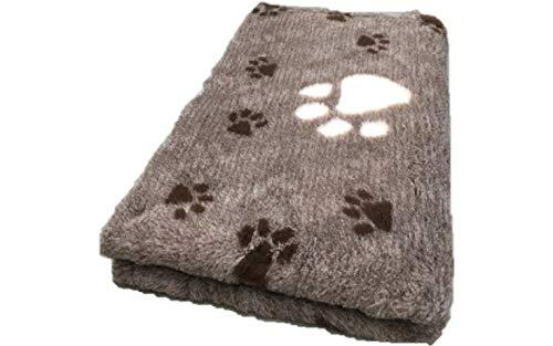 Topmast Vet Bed Hundedecke/Katzendecke braune Motive, Dreipack 3x150/100cm Schlafdecke,