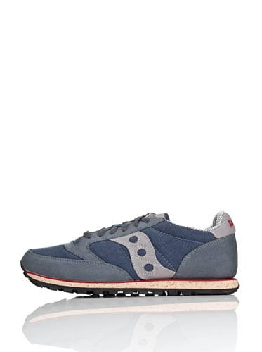 Saucony Originals Unisex Jazz Low Pro Vegan Sneakers, Grey/Red, 10.5 US Men