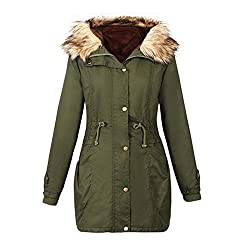 Sunsoar Lady Women Warm Winter Long Jacket Long Sleeve Coat Parka Outwear Hooded