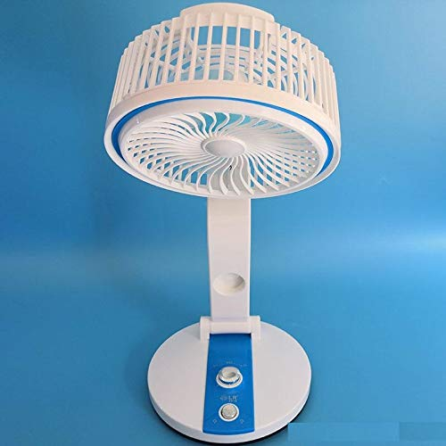 SKYFUN (LABEL) Portable Adjustable LED Light Plastic Air Cooling Rechargable Fan For Office and Bedroom-Multi Color