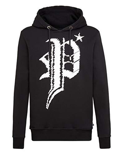 Philipp Plein Hoodie Sweatshirt Gothic Plein Gr. Small, Schwarz