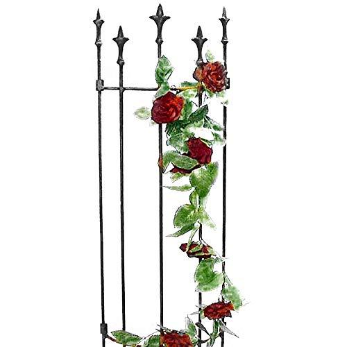 Annastore Rankgitter Lilie aus Metall - pulverbeschichtet H 116 cm - B 41-57 cm je nach Modell - Kletterhilfe - Rankhilfe Farbe Gebogene-Form