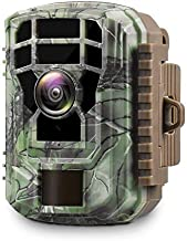 """Campark Mini Wildlife Camera 1080P HD Trail Game Camera Waterproof Scouting Hunting Cam with 12MP 120° Wide Angle Lens and Night Vision 2.4"""" LCD IR LEDs"""