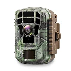 【Covert Mini Size& Night Vision】: Upgraded Campark design is more sturdy with less terrified to wild animals, and more easy to carry, install, and disassemble it. Up to 20 meters range of Infrared LED can catch any movement at dark night(Memory card ...