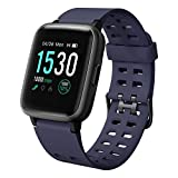 LETSCOM Fitness Tracker with Heart Rate Monitor Activity Tracker 1.3' Color Screen Smart Watch Pedometer Calorie Counter Sleep Monitor Step Counter, 5ATM Waterproof Smart Watch for Women Men