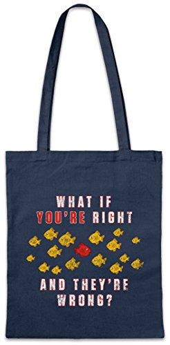Urban Backwoods What If You're Right and They're Wrong ? Hipster Bag Beutel Stofftasche Einkaufstasche