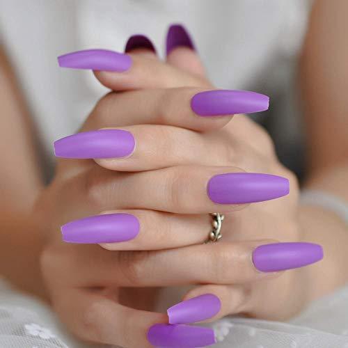Long Adult Fake Nagel Full Cover Sarg Matte Press On Nails Diy Soild Farbe Tägliche Fingernagelspitzen