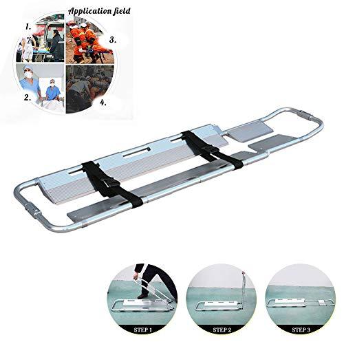 DZWJ Faltbare Aluminiumschaufel-Bahre, tragbare medizinische Bahre-justierbare Längen-medizinische Notbahre-Silber