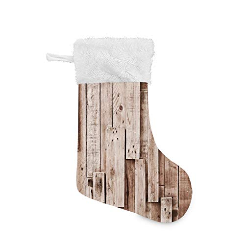 FULIYA Christmas party table decoration,Wooden, Vintage Barn Shed Floor Wall Planks Sepia Art Old Natural Plywood Lodge Image Print,Grey Brown,Family holiday party gift decoration
