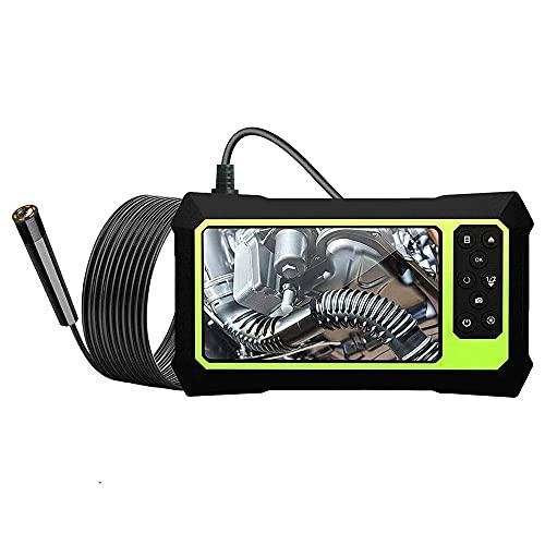 Endoscopio Industrial de 8 mm de 4.3 Pulgadas Pantalla 1080P HD Cámara Impermeable de turbulento de la computadora portátil con 4 Leds Ajustables,Single Lens,5M
