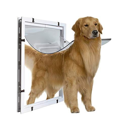 Kat en hond deur Nieuwe Extra Grote Huisdier Flap Deur Magnetische 2 Manieren Afsluitbare Veilige Kat Hond Tunnel Poort Gemakkelijk te installeren