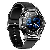QFSLR Smartwatch,1,28'' Touch Schermo Orologio Fitness Uomo Donna Activity Tracker, Impermeabile IP65 Smart Watch con Cardiofrequenzimetro Pressione Sanguigna Contapassi,Black w