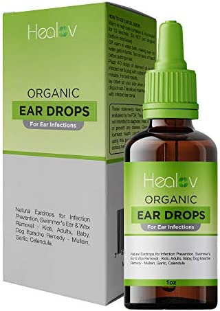 Organic Ear Oil for Ear Infections Natural Eardrops for Infection Prevention Swimmer s Ear Wax product image