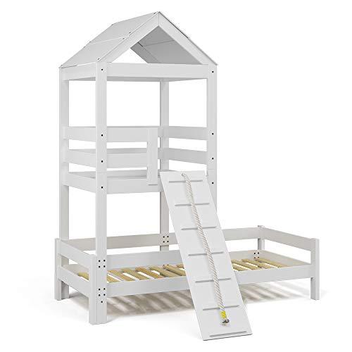 VitaliSpa Kinderbett Teddy 90x200cm Spielturm Bett Spielbett Jugendbett Hausbett (Bett)