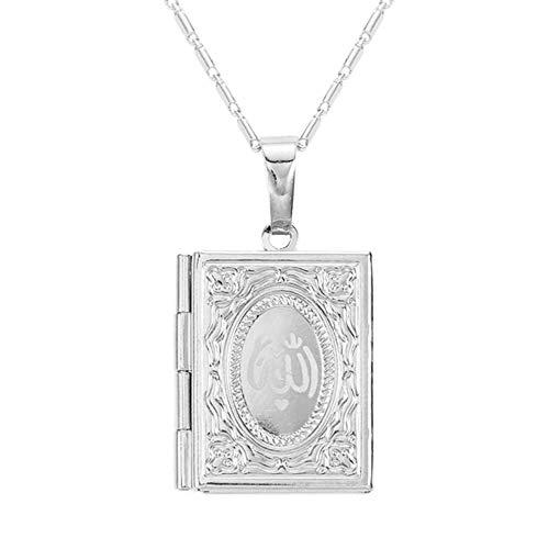 Chandler Muslimischer Koran für Allah Koran im Nahen Osten Muslim Koran Box für Fotos Halskette Schmuck für Frauen Männer Mädchen Geschenke