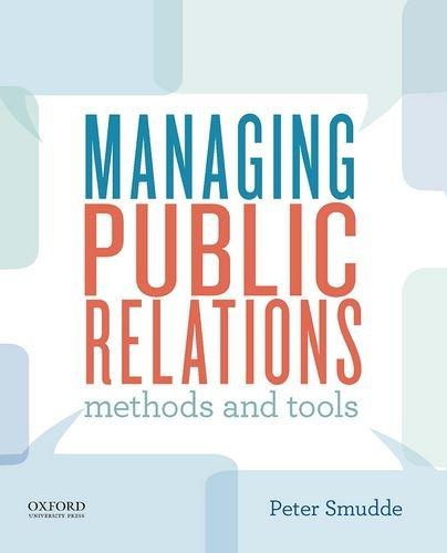 Managing Public Relations: Methods and Tools