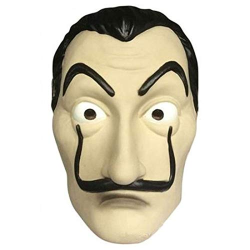 Levoberg Masque Dali CASA de Papel en Latex pour Déguisement Carnaval Fête #3