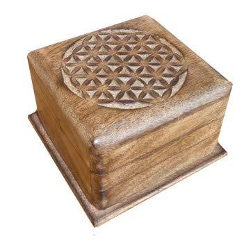 Caja mágica de Madera, Magic Box 10 x 10 x 6,5 cm, Caja secreta