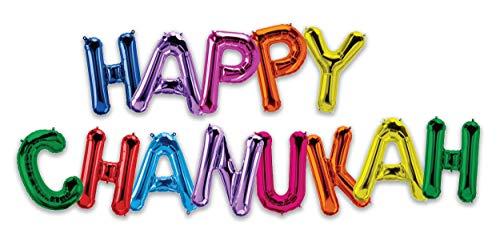 Hanukkah Balloon - Happy Chanukah 16' Letter Balloons - Multi-Color - Hanukkah Décor