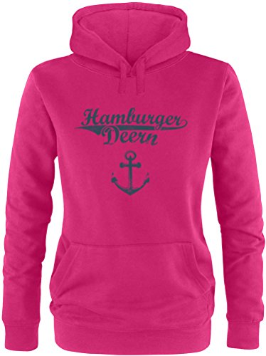 EZYshirt® Hamburger Jung & Deern Vol. 2 Damen Hoodie | Damen Kapuzenpullover | Damen Pullover