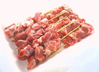【焼鳥】国産手作り 豚カシラ串 10本 40g 冷蔵品