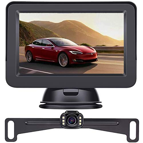 LeeKooLuu 2020 HD Backup Camera and Monitor Kit OEM Driving Hitch...