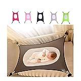 Hamac pour bébé pour berceau, lit de sécurité pour bébé avec filet confortable respirant portable amovible et portable (gris)