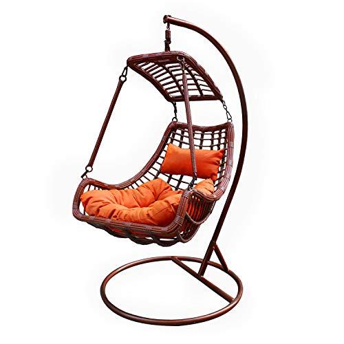 Dondolo alveare arancio in ferro e titanio, da 118x195x105 cm Arancione