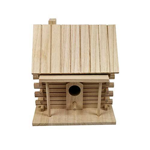 Dorime Holz-Voliere Haus Warm Vogelbrutkasten Außen Wellensittich-Vogelkäfig-Starling-Vogel-Haus für Umweltschutz
