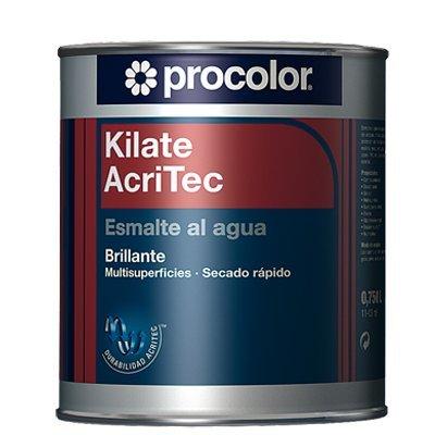 ESMALTE AL AGUA KILATE ACRITEC BRILLANTE MARRÓN CAFÉ 0,75L