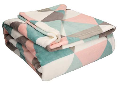 Betz Wohndecke Kuscheldecke Tagesdecke XXL Picknickdecke Größe 150x200 cm Multicolor
