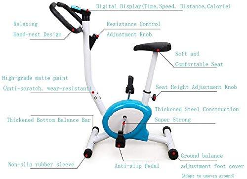 CHHD Indoor Cycling Heimtrainer, Heimheimtrainer Cardio Workout Display Einstellbarer Lenker Sitzhöhe Fitness Bike Ideal Cardio Trainer WUTAO1